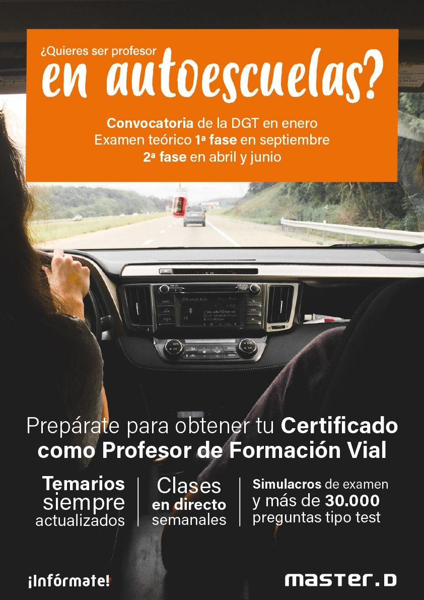 Curso De Profesor De Autoescuela Autoescuela Profesor Cuerpos De Seguridad