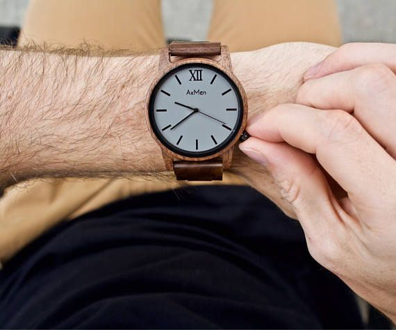 ***FAST ENGRAVING & SHIPPING*** Groomsmen Gift, Personalized Wooden Watch Check out the rest of our collection here: https://www.etsy.com/shop/axMen Featuring our Sandalwood wrist watch. ◆At AxMen, our mission is to provide a high quality wooden watch that is beautiful, comfortable to wear, and affordable. With a combination of natures beauty and modern design, our wood watches are truly one of a kind. Since every piece of wood is different, each wooden watch will be ...
