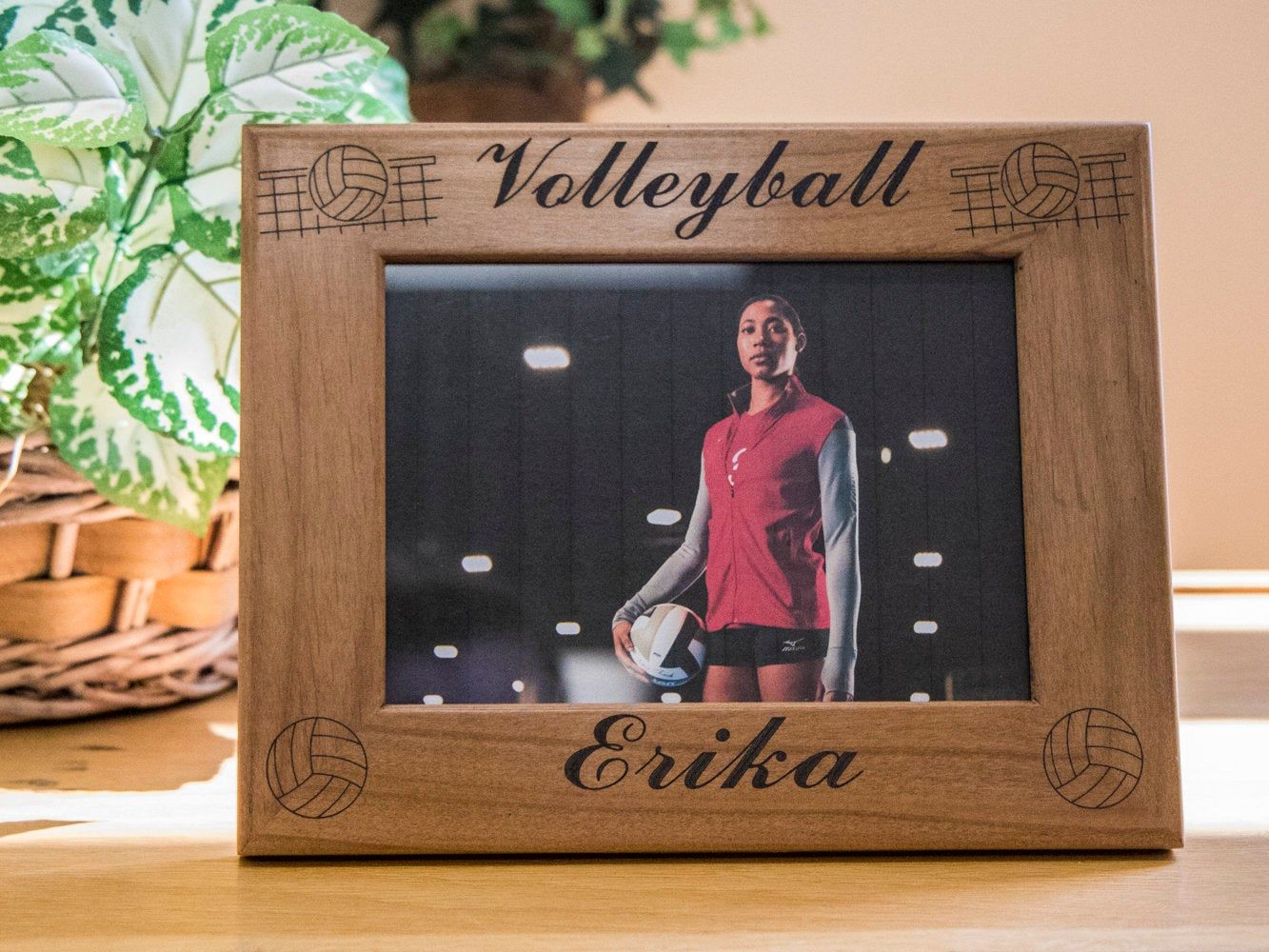 Custom Engraved Volleyball Picture Frame | Picture frames ...