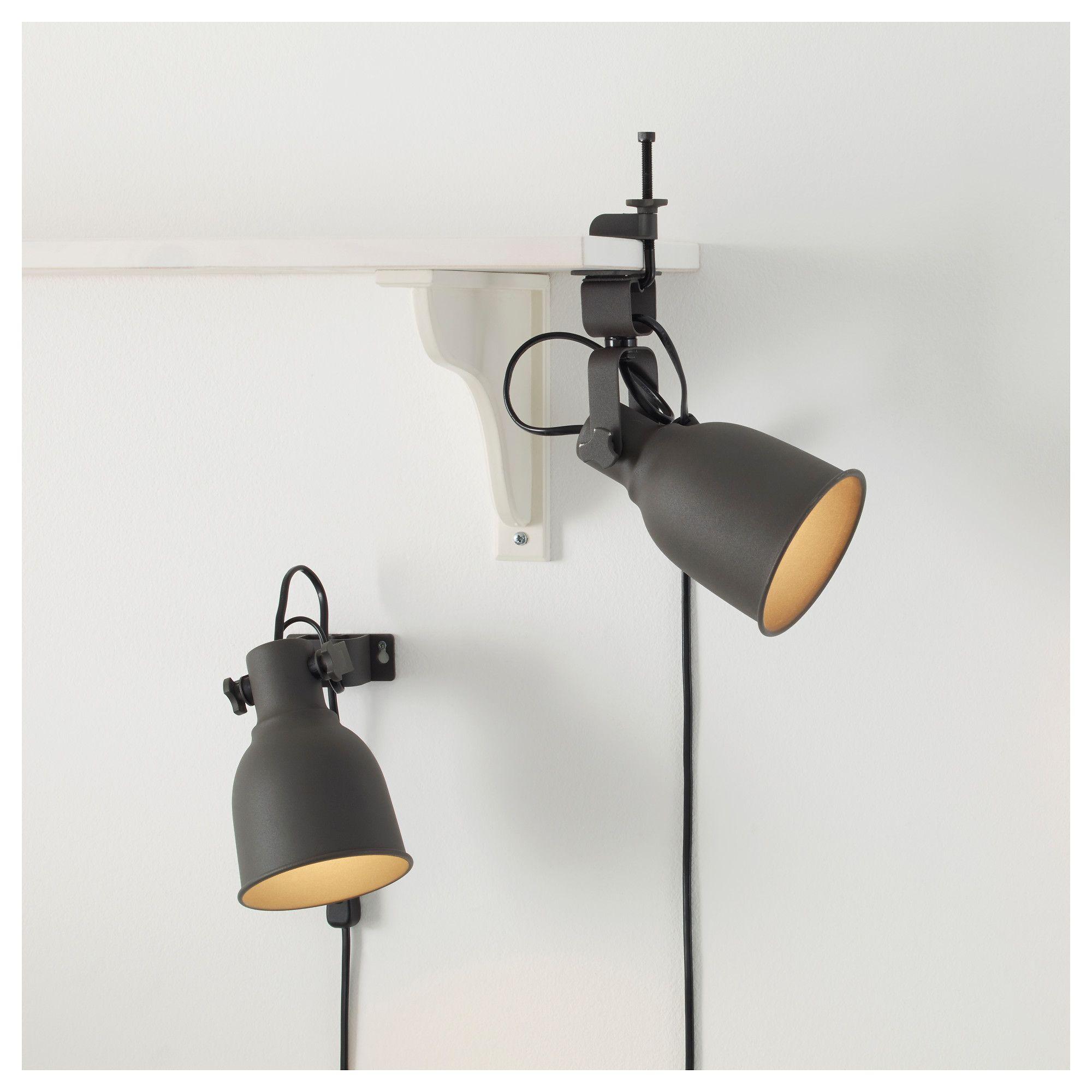 IKEA - HEKTAR Wall/clamp Spotlight Dark Gray