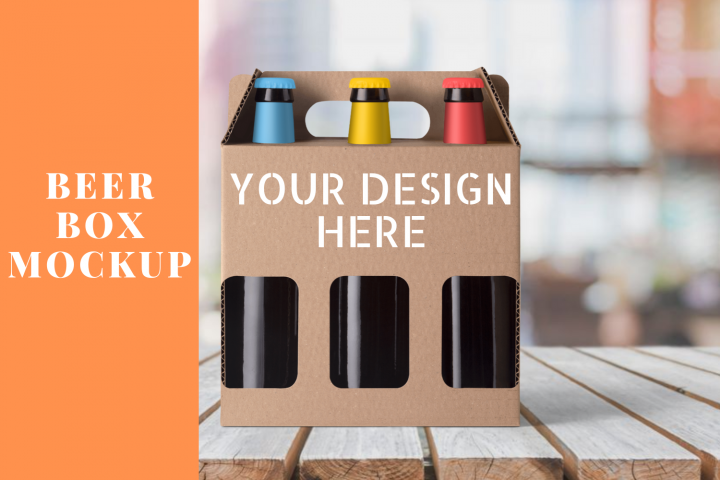 Download Beer Box Mock up Scene - PNG | Box mockup, Mockup, Bottle ...