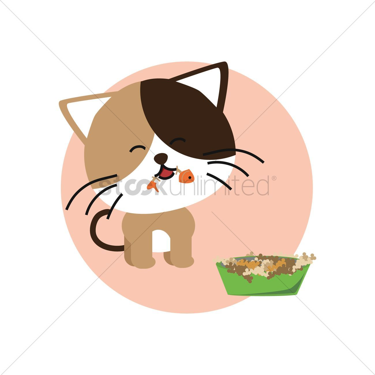 49++ Cat eating fish clipart info