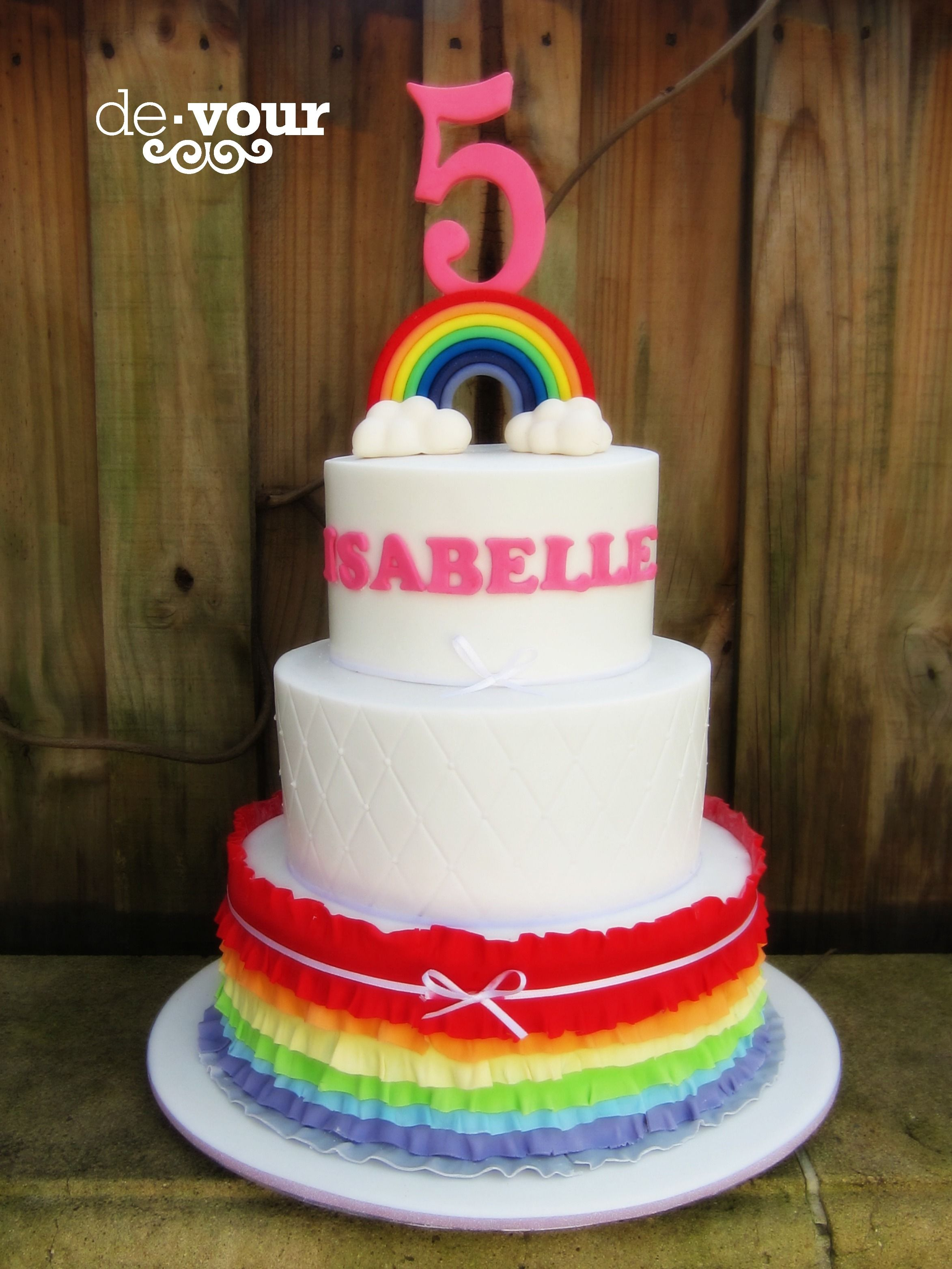 Rainbow Cake Frill Cake Three Tier Cake Rainbow Birthday Cake