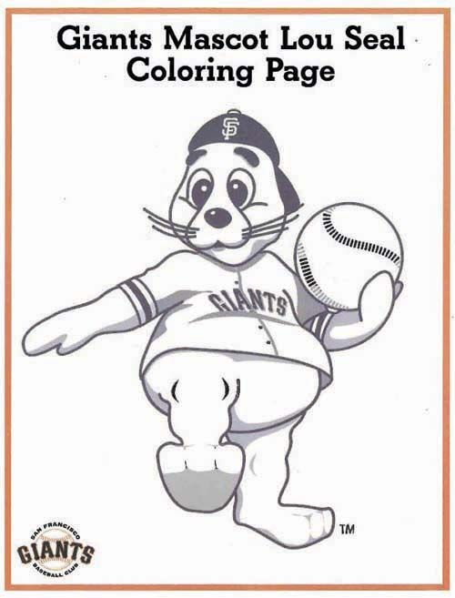 Fans Autograph Collectors Sf Giants Coloring Pages Giants