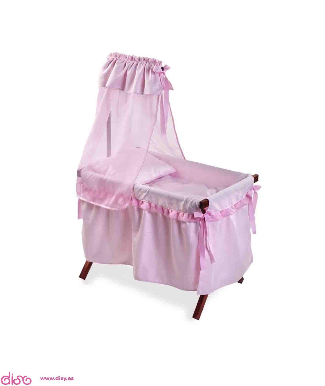 Accesoriosmu ecas cuna con dosel para mu ecas rosa 21600 for Moises bebe ikea