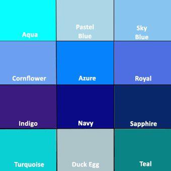 Homescapes Blue Colour Chart