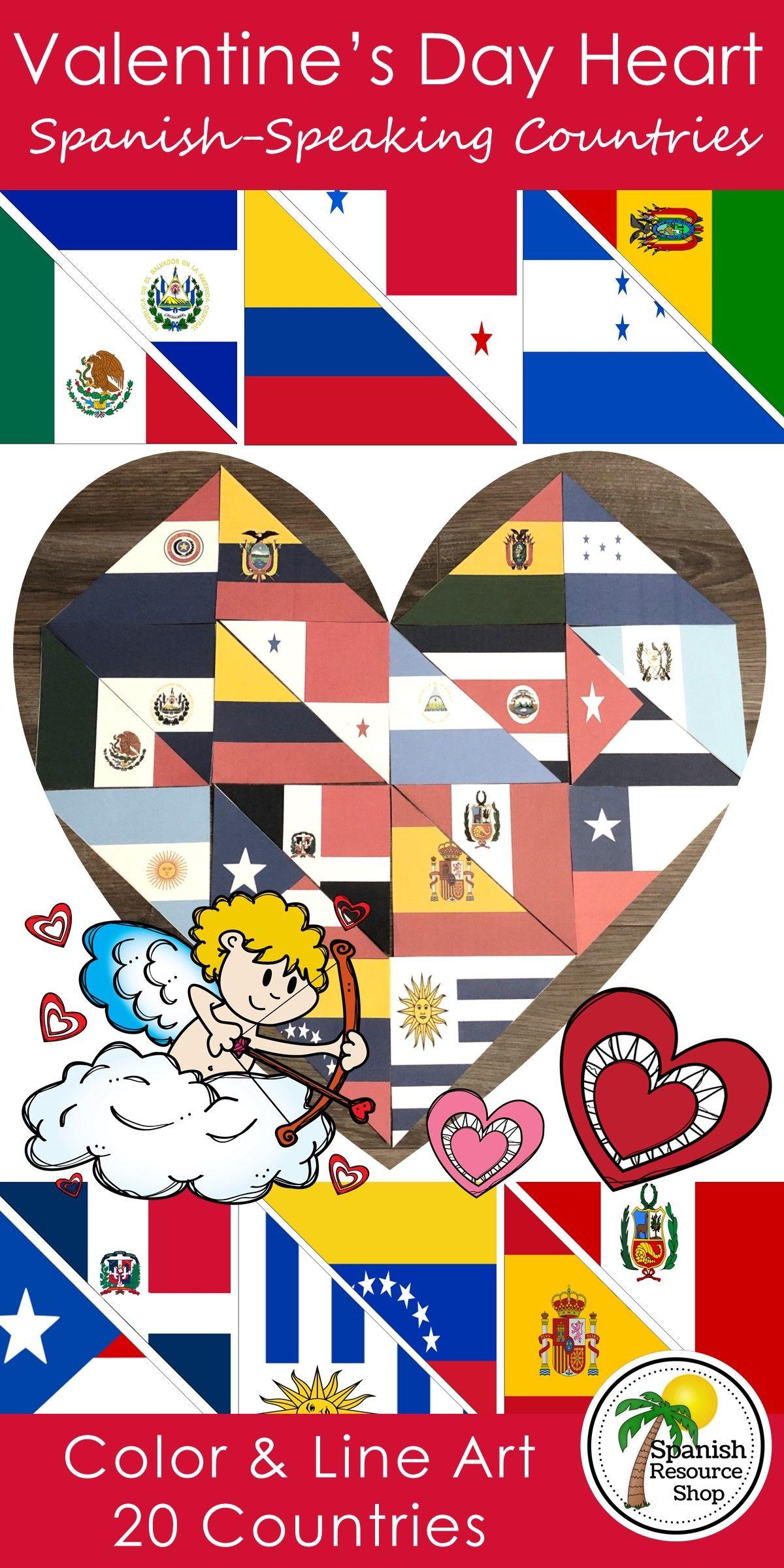 Spanish Speaking Countries Valentine S Day Heart