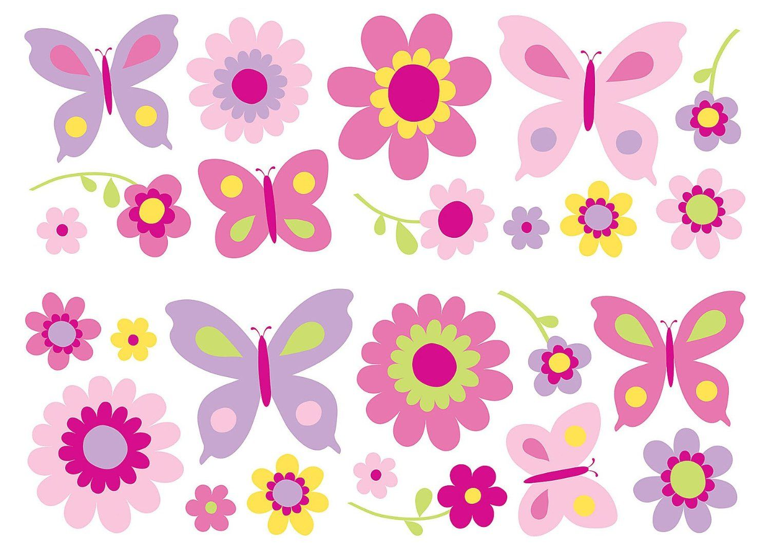 fun4walls sa30149 flowers and butterflies wall stickers fun4walls sa30149 flowers and butterflies wall stickers decorative wall appliques amazon com