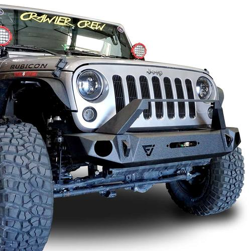 Front High Rise Bull Bar Bumper W Light Bar Holder W Oem Fog Holes