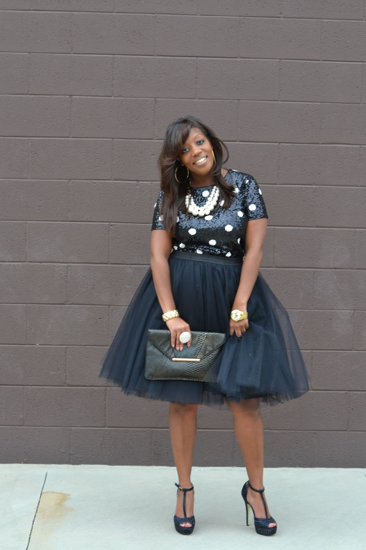 7772def06fd29f Kenya L Fashion Blog: Tulle Skirt - Holiday Party Style | Kenya L ...
