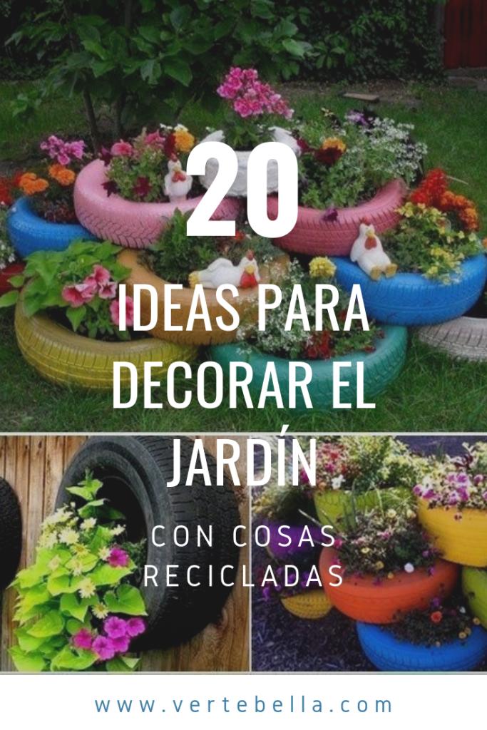 20 Ideas Para Decorar El Jardin Con Cosas Recicladas Succulents Garden Plants Garden Plants