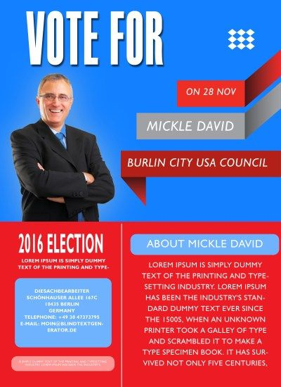 Free political campaign flyer templates 11 free for Political brochure templates