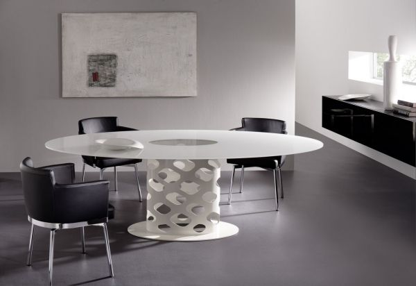 Moderne Esszimmer Möbel Design Ideen Weißer Esstisch Leder