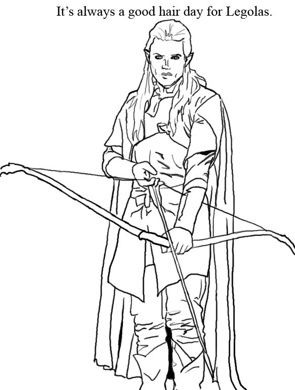 Hobbit Coloring Book | magic theme classroom | Pinterest | Legolas ...