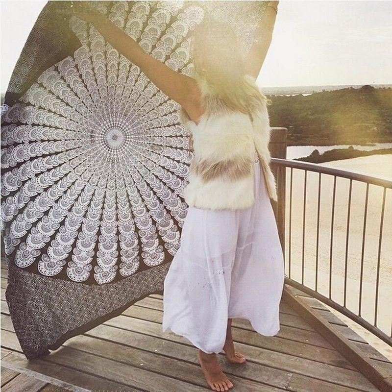Superb Ideas For Ethnic Home Decor: Superb Hot Indian Mandala Tapestry Beach Towel Beach Towels, Mandala Towel, Yoga Mat Towel,… In