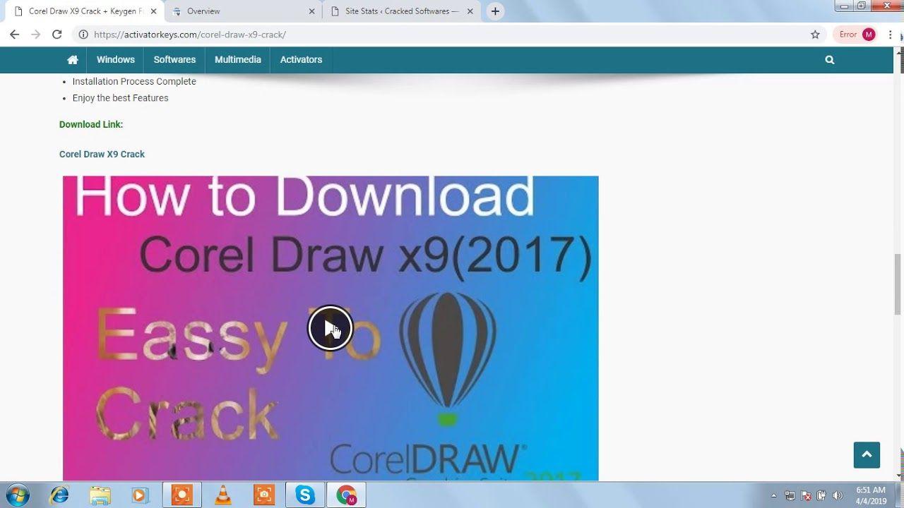 Corel Draw X9 Crack + Keygen Full Download { 2019 } | Free