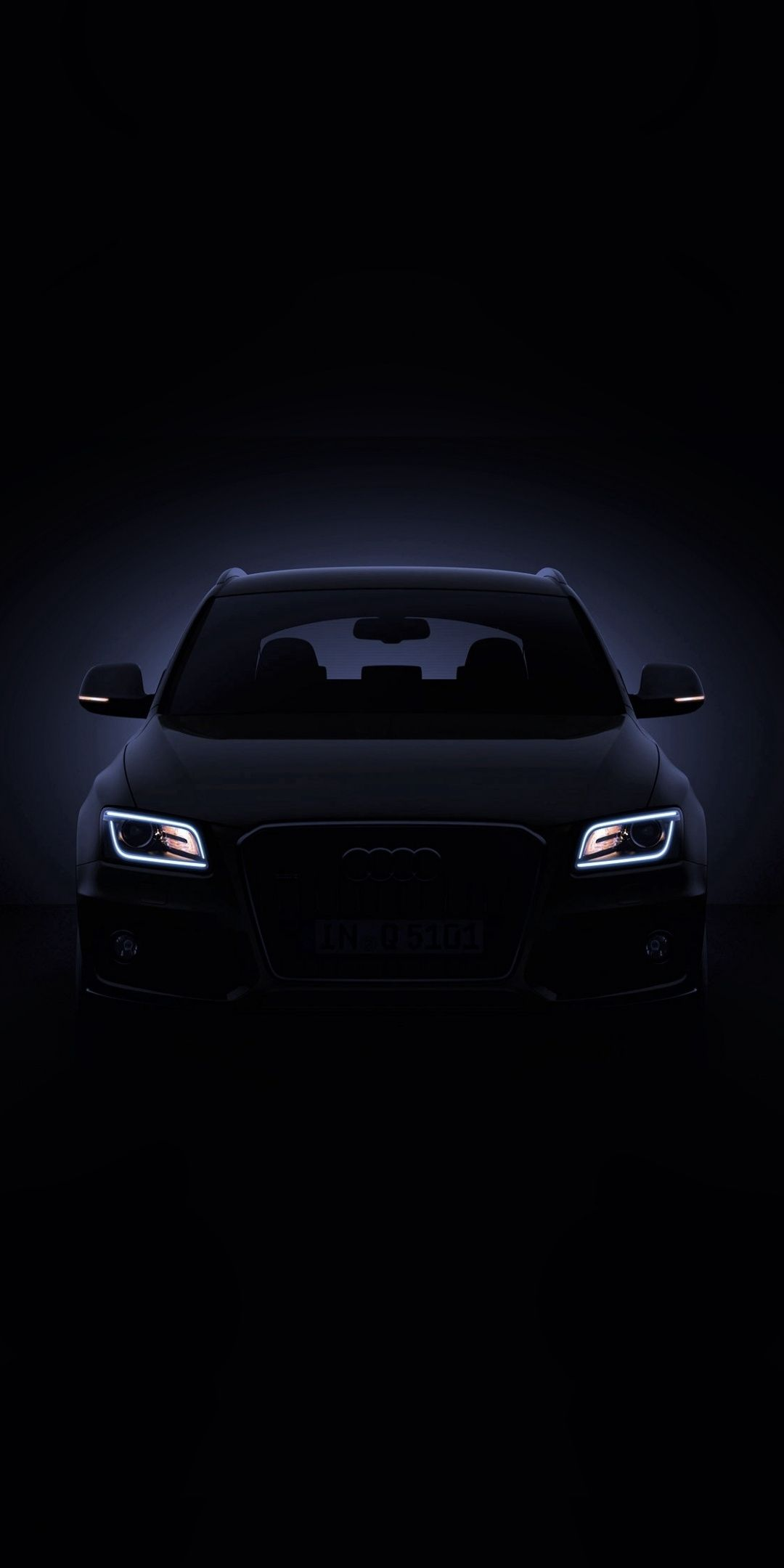 Audi Q5 headlights portrait 1080x2160 wallpaper