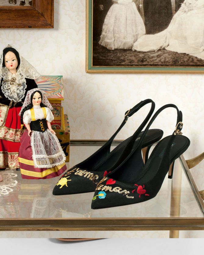 Docle & Gabbana Embroidered Sequinned Pumps | Buy ➜ http://shoespost.com/docle-gabbana-embroidered-sequinned-pumps/