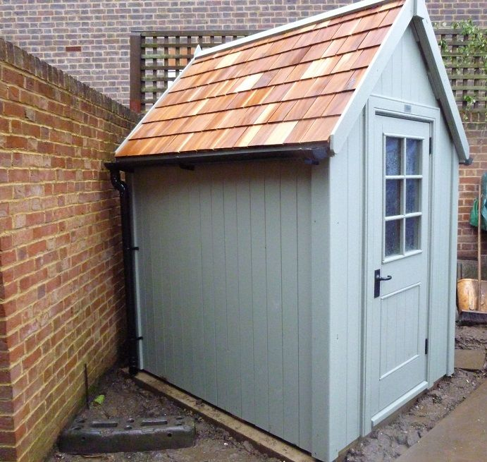 Potting Shed with cedar shingle roof Cedar shingle roof