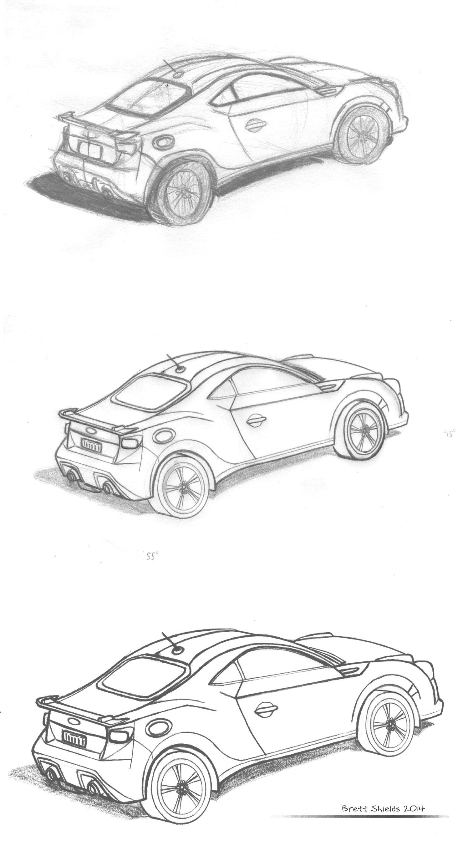 Car Sketch process