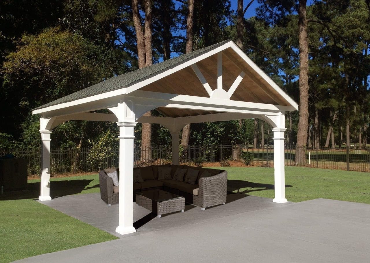 Vinyl Patio Cover Kits Pavilions Custom Sizes 10x12 12x14 14x16 Pergola Pergola Designs Pergola Pictures