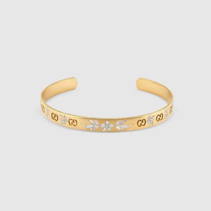 ab27a71f2cb Gucci Icon bracelet in yellow gold  yellowgoldbraceletsforwomen ...