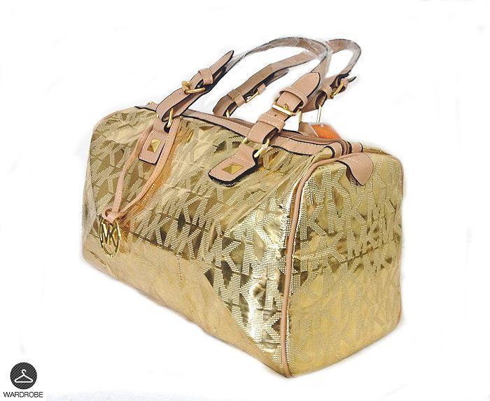 Bolso de moda mk color dorado forro interior mk con compartimientos moda mujer mexico a - Bolso con luz interior ...