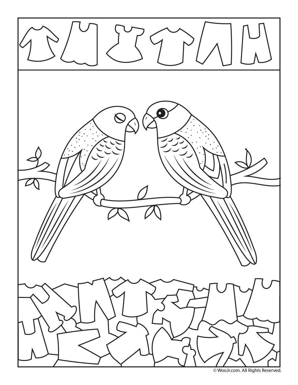 Love Birds Find The Item Activity Woo Jr Kids Activities Hidden Pictures Hidden Picture Puzzles Kindergarten Activities [ 1294 x 1000 Pixel ]