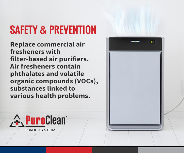 Use air purifiers instead of commercial air fresheners.