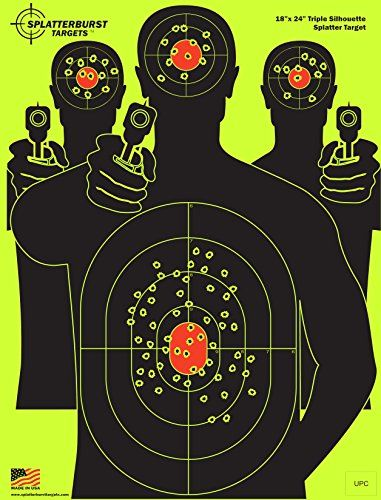 10 Pack Splatterburst Targets 12 x 18 Inch Silhouette Reactive Shooting Targets