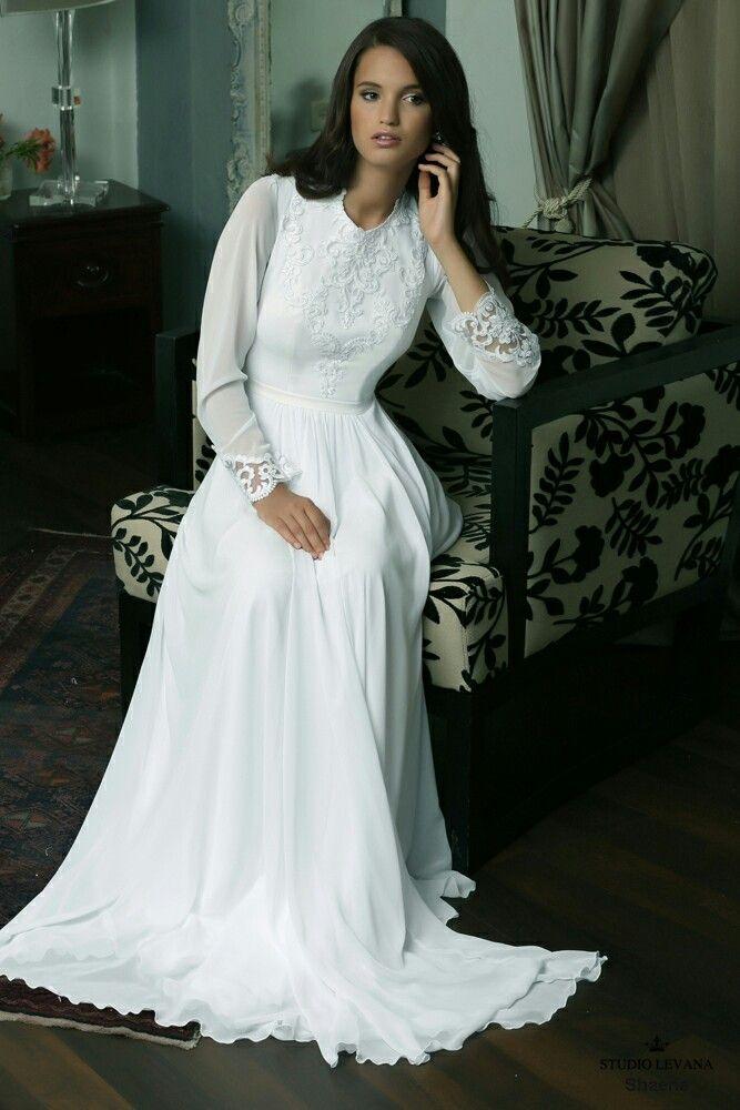 Modest wedding gown elegance. Studio Levana | We\'ll Say We Do 3 ...