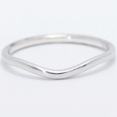 15mm Curved Plain Wedding Band 14k White Gold