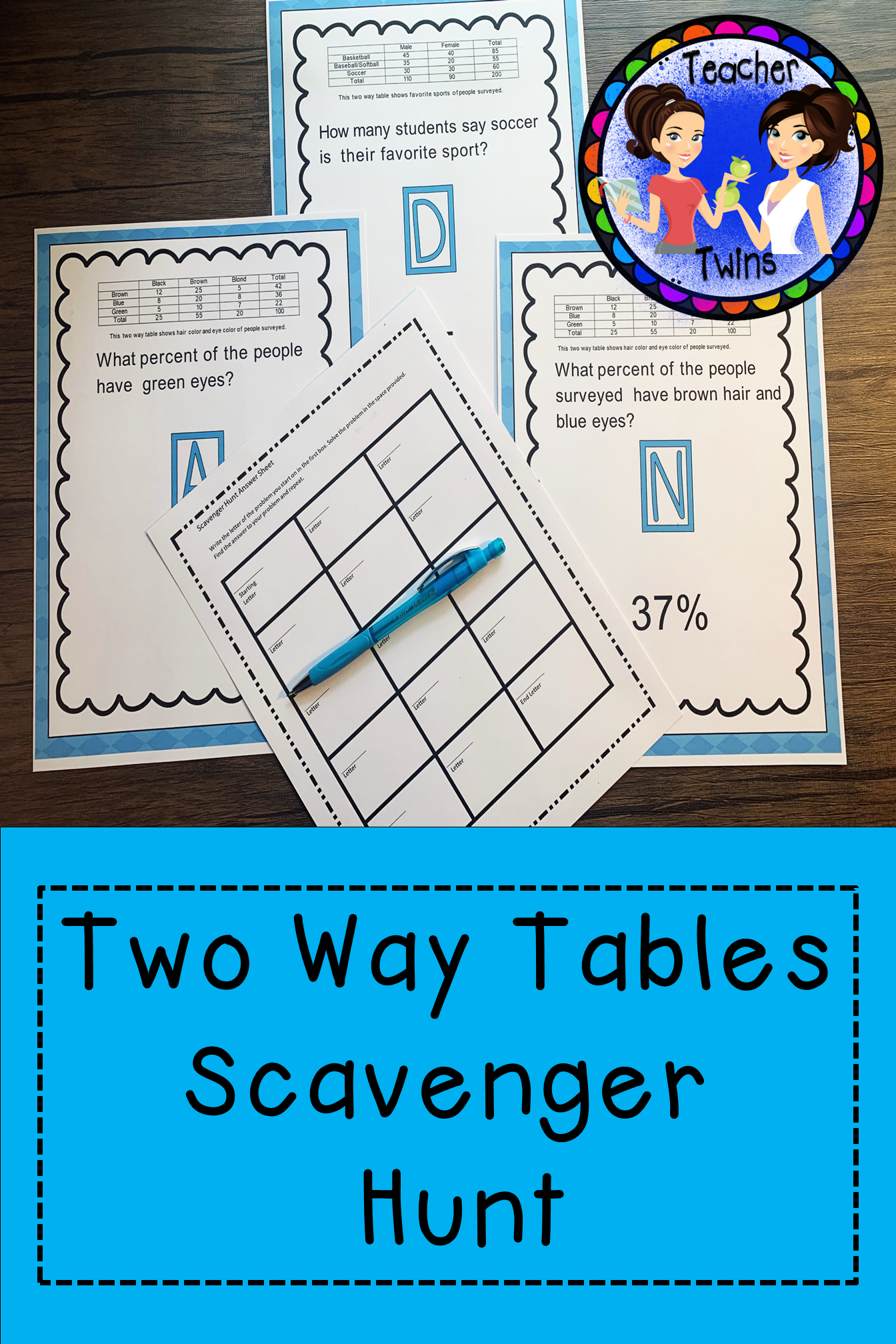 Two Way Tables Scavenger Hunt