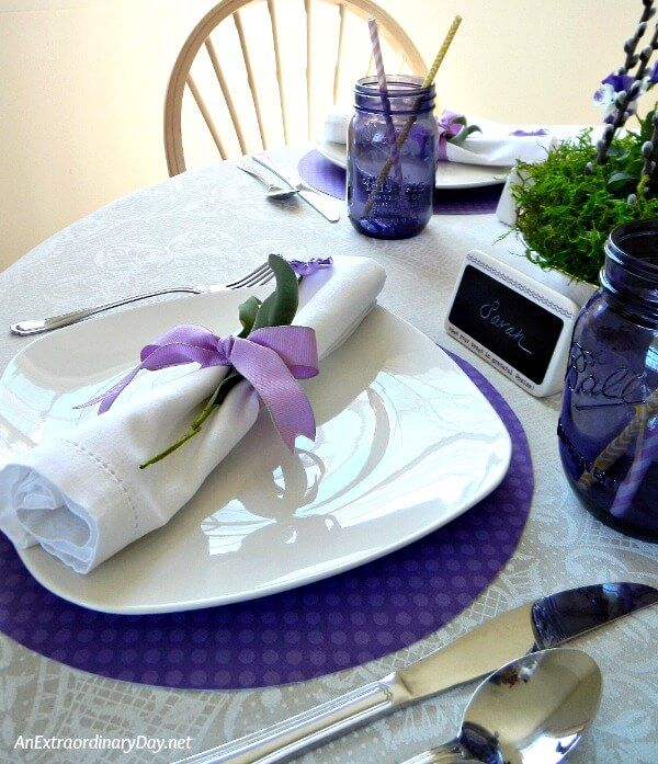 Simple Inexpensive Tablescape For Celebrating Mom