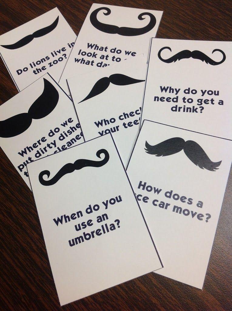 """I """"Mustache"""" You a Question: An Answering and Formulating Questions Game – Sublime Speech"""