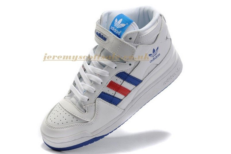 new product c8b2b eec5f Cheap Adidas Originals Forum LO RS Mid Shoes White Red UK Sale - £56.90