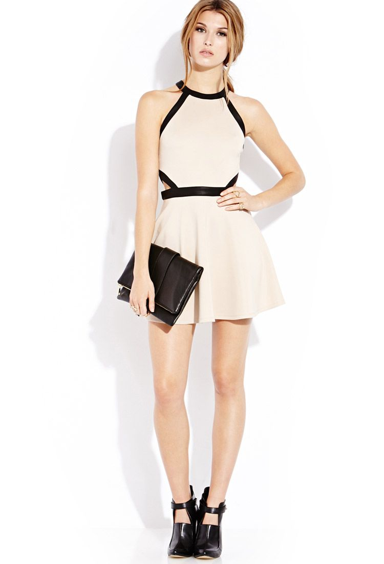 Cutout Craze Skater Dress Forever21 Friday Night Outfit Inspo