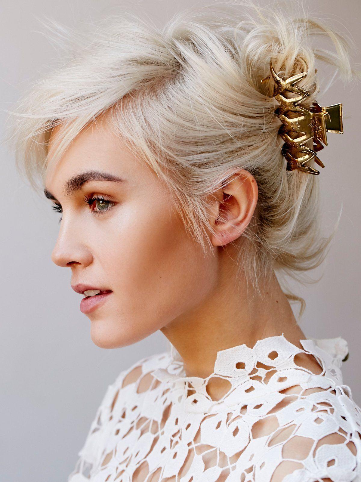 Geo Cutout Claw Clip Hairstyles French Twist Hair Braids For Short Hair