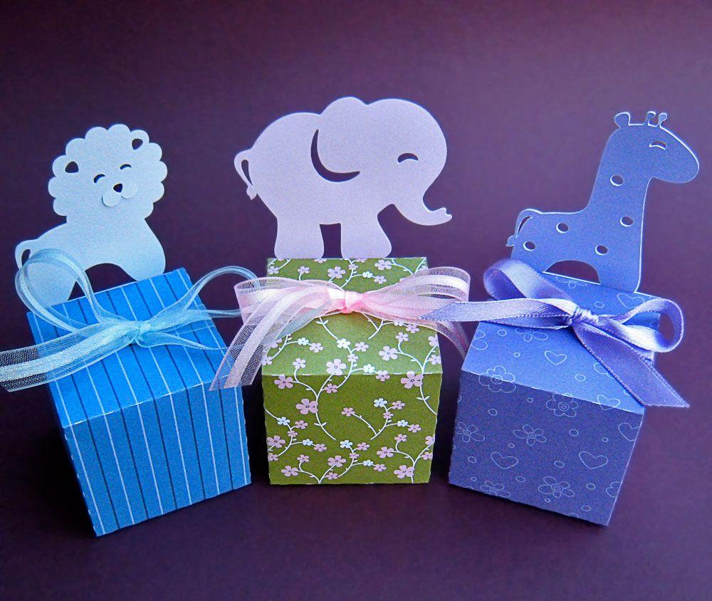 Animal (Elephant Lion Giraffe Bear Duck) - Paper Gift Box