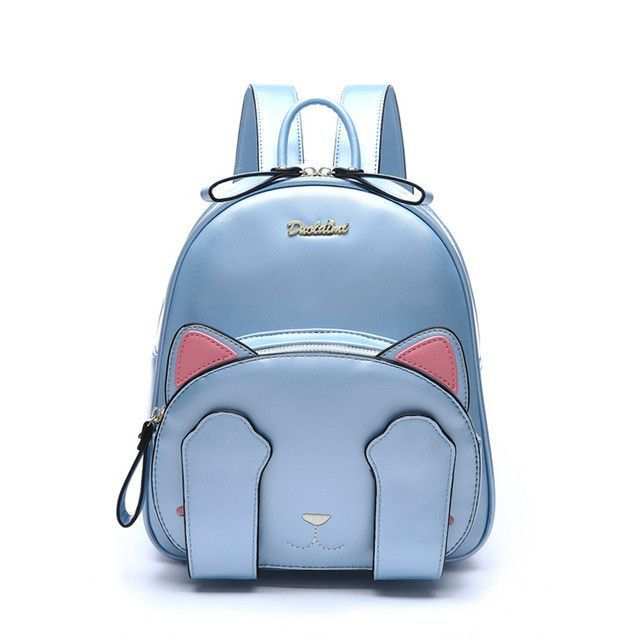 8998bf90445 MSMO Kawaii Cat Ear Backpack Black Preppy Style School Backpacks For Teenage  Girls College Style Casual Backpack Sac Mochilas