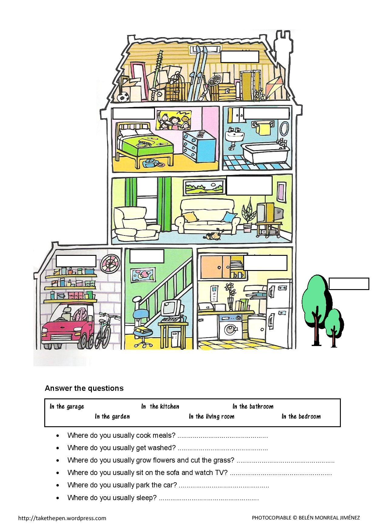 The Rooms Of The House Las Partes De La Casa En Ingls Idioma