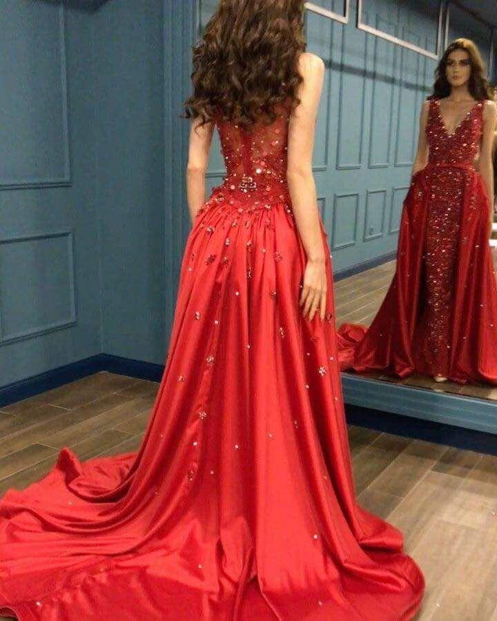 Rotes Abendkleid Lang Günstig | Rote Kleider mit Spitze ...