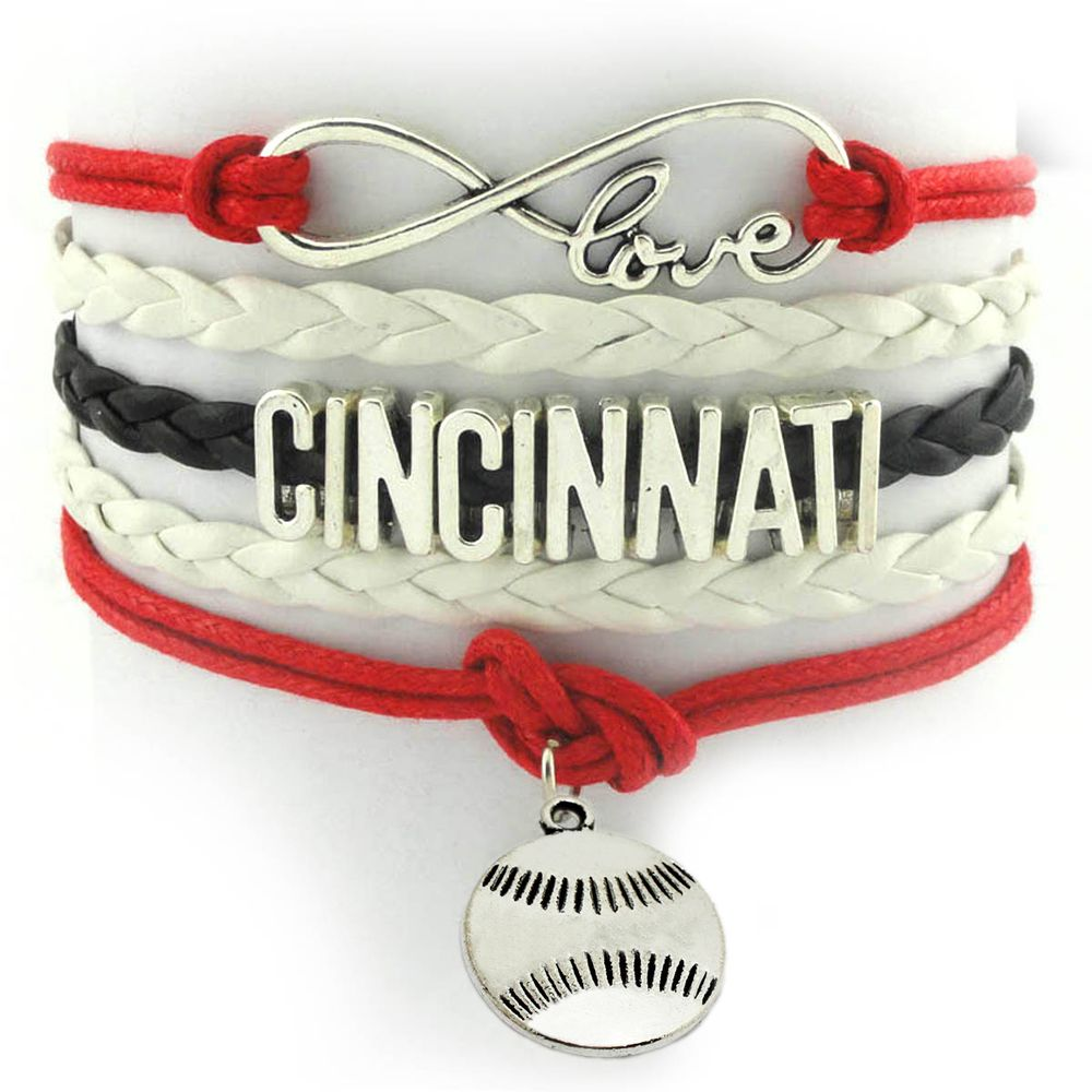 Love Cincinnati Baseball Team Charms Bangles Popalar Softball Charm Bracelet Sports Jewelry Gift Affiliate