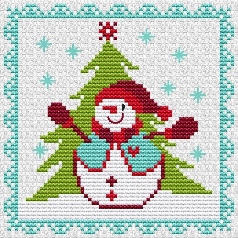 Pin de Eileen Bujno en Snowmen Pinterest Punto de cruz, Navidad - cosas de navidad