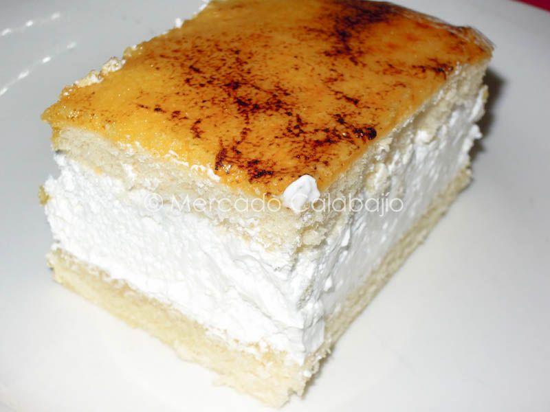 Receta De Tarta De Yema Tostada Y Nata Sin Lactosa Mercado Calabajío Sweet Recipes Food Desserts