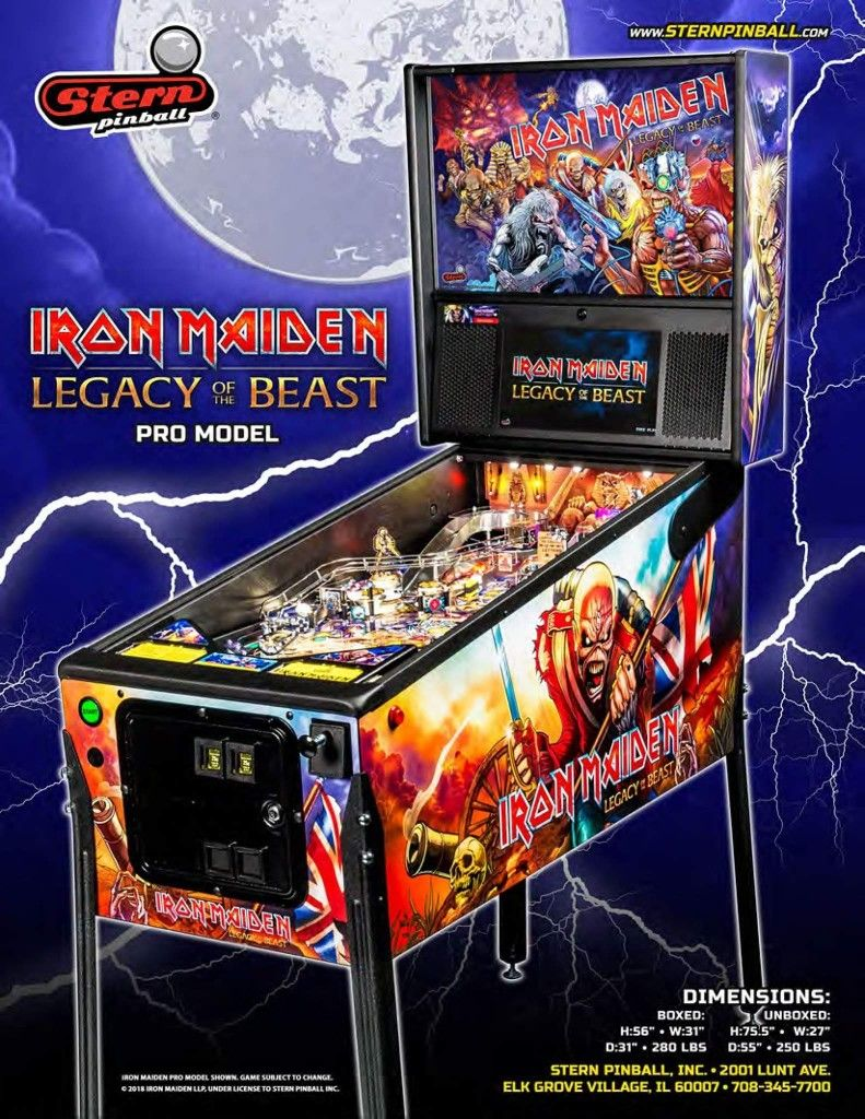 Image by Corey Bourner on Iron Maiden. Pinball, Iron
