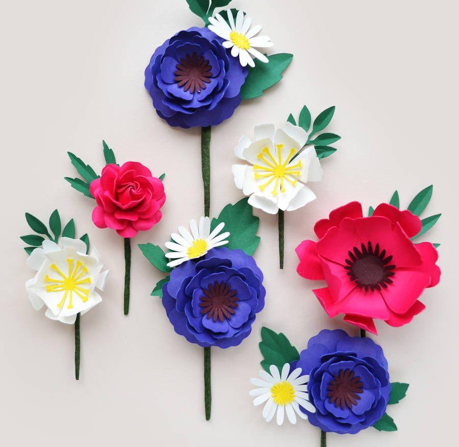 Handmade Paper Flower Buttonhole Pinterest Flower Craft And