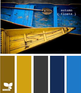 Dark Blue And Brown Bedroom olivey brown, mustard yellow, dark gray, navy and bright blue