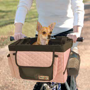 Dog Bicycle Seat Dog Bike Basket Pink Snoozer Pet