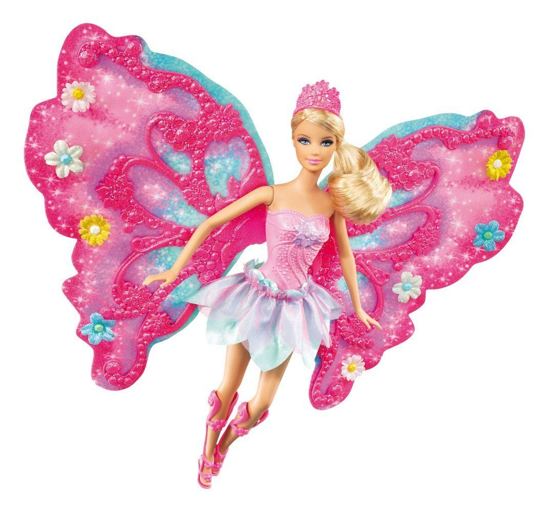 Uncategorized Barbie Fairy barbie flower n flutter fairy doll toys games kids games